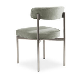 REMY DINING CHAIR - BRUSHED STAINLESS STEEL, Performance Velvet - PATINA, hi-res