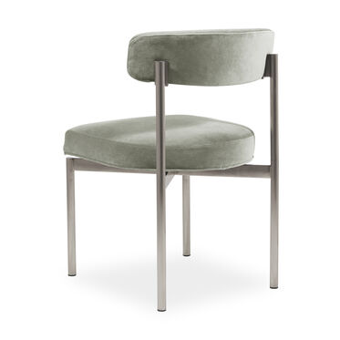 REMY DINING CHAIR - BRUSHED STAINLESS STEEL, BOULEVARD- PATINA, hi-res