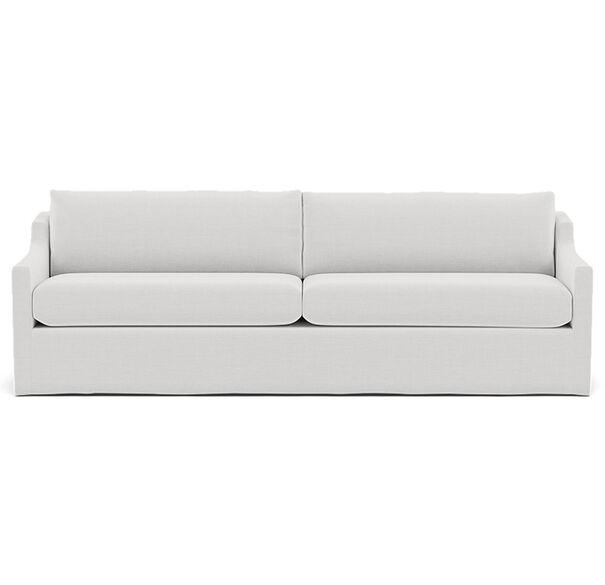 GIGI SLIPCOVER SOFA, PERFORMANCE LINEN - WHITE, hi-res
