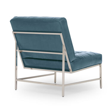 MAJOR LEATHER CHAIR, MONT BLANC - BLUE SMOKE, hi-res