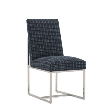 GAGE LOW DINING CHAIR, DOT DASH - NAVY, hi-res