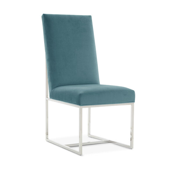 GAGE TALL SIDE  DINING CHAIR, PIPPIN - TEAL, hi-res