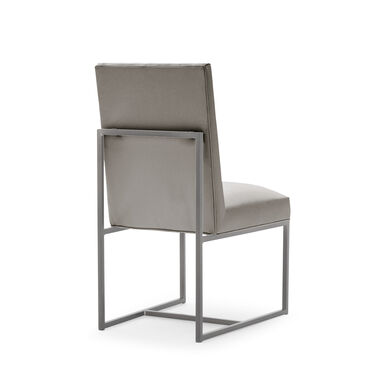 GAGE LOW DINING CHAIR - BRUSHED STAINLESS STEEL, KOKO - STEEL, hi-res