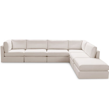 FRANCO II 6 PIECE SECTIONAL, TERRACE - ALMOND, hi-res