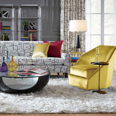 JEWEL FULL SWIVEL CHAIR, EVERSON - CANARY, hi-res