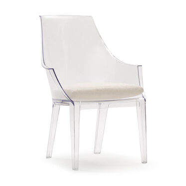 CLAIR CLEAR DINING CHAIR W/ CUSHION, , hi-res
