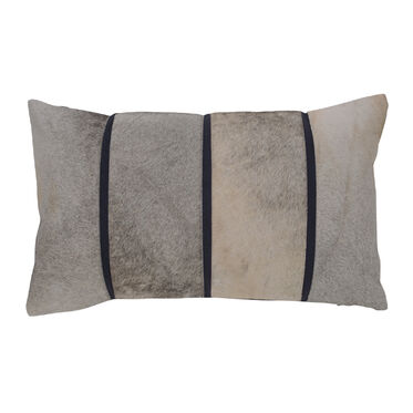 LINEAR HIDE THROW PILLOW, , hi-res