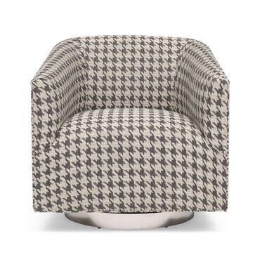 COOPER FULL SWIVEL CHAIR, HOUNDSTOOTH - CHARCOAL, hi-res
