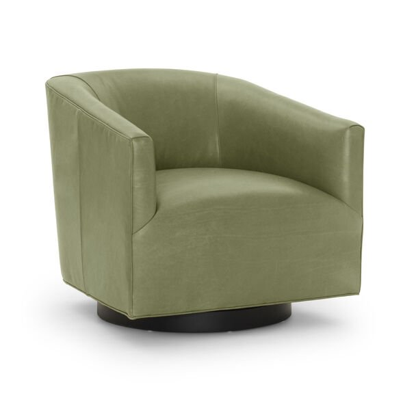 COOPER LEATHER SWIVEL CHAIR, MONT BLANC - WINTER PINE, hi-res