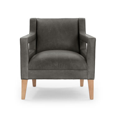 DUKE LEATHER CHAIR, MONT BLANC - WOLF, hi-res