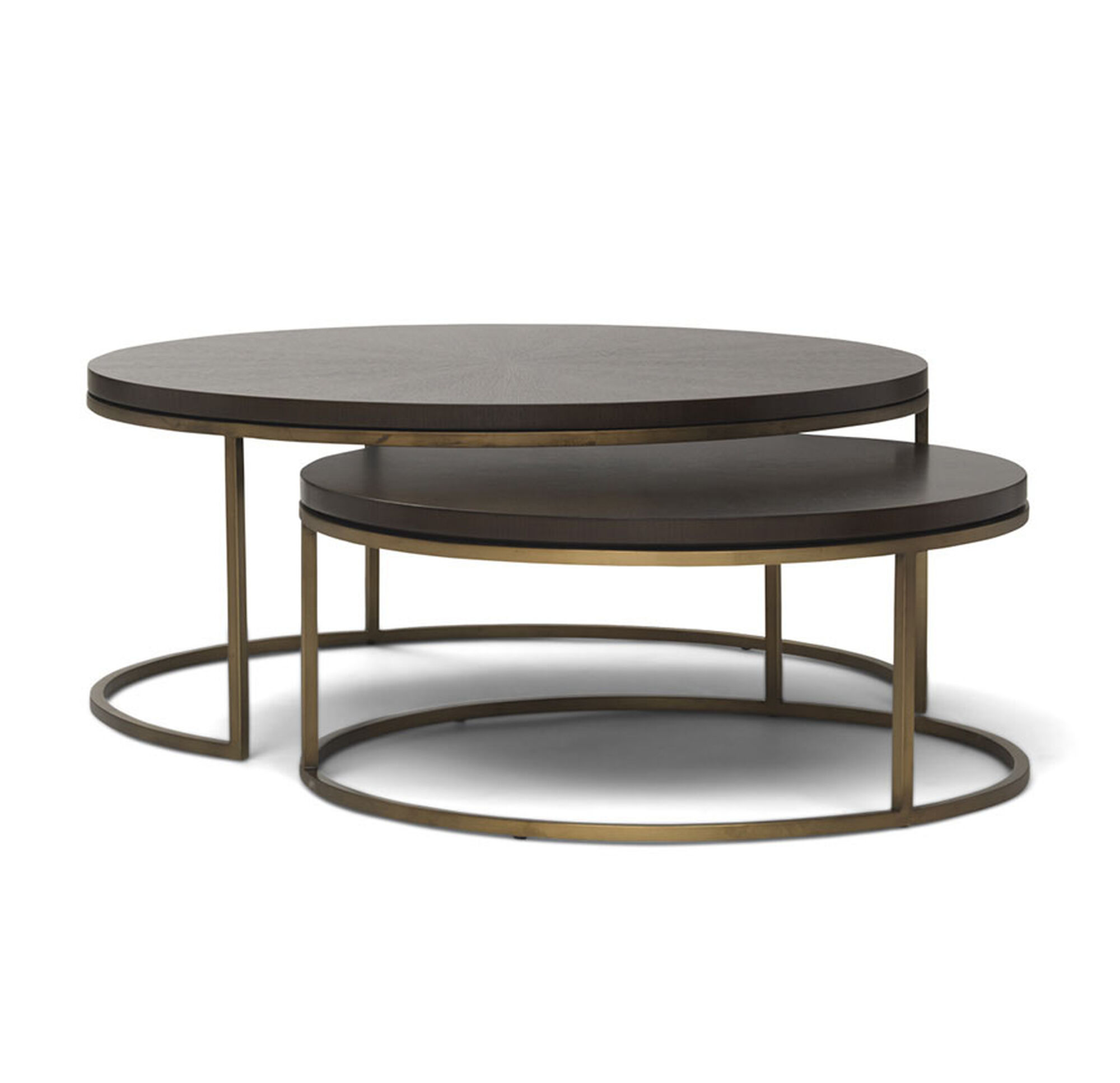 BASSEY NESTING COCKTAIL TABLE - Round nesting cocktail table