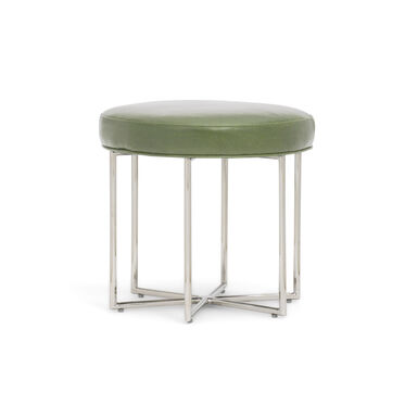 ASTRA LEATHER PULL-UP STOOL, MONT BLANC - FERN, hi-res