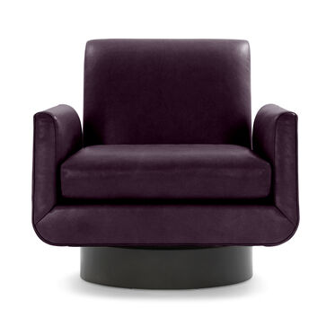 SUPERNOVA LEATHER FULL SWIVEL CHAIR, MONT BLANC - AUBERGINE, hi-res