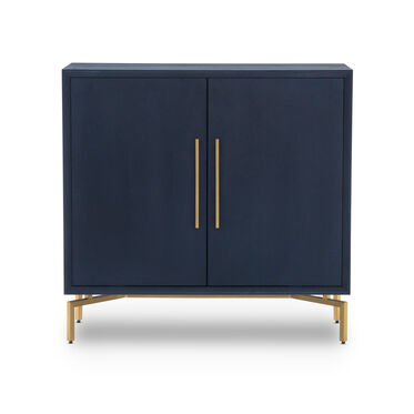MING STORAGE CHEST - INDIGO / BRASS, , hi-res