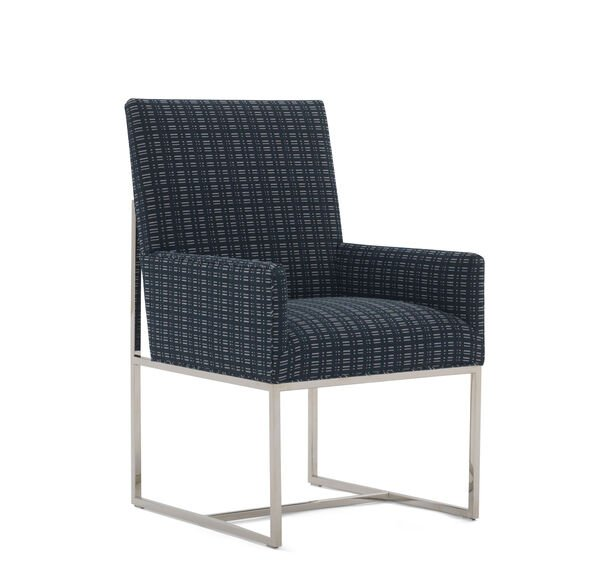GAGE LOW ARM DINING CHAIR, DOT DASH - NAVY, hi-res