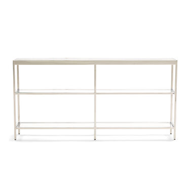 VIENNA LOW BOOKCASE MEDIUM- POLISHED STAINLESS STEEL, , hi-res