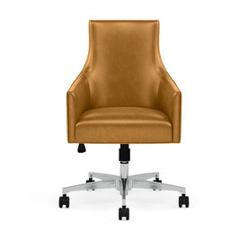 ADA LEATHER DESK CHAIR, MONT BLANC - FAWN, hi-res