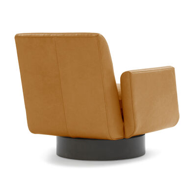 SUPERNOVA LEATHER FULL SWIVEL CHAIR, MONT BLANC - FAWN, hi-res
