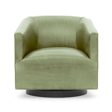 COOPER STUDIO LEATHER FULL SWIVEL CHAIR, MONT BLANC - FERN, hi-res