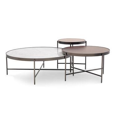 TURINO MIRROR BUNCHING SIDE TABLE - BRONZE, , hi-res