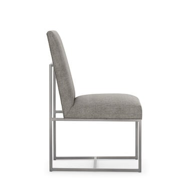 GAGE LOW DINING CHAIR - BRUSHED STAINLESS STEEL, COSTA - GRAPHITE, hi-res