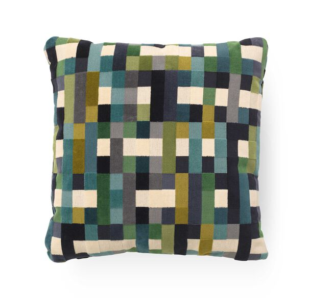 "VELVET 20"" X 20"" ACCENT PILLOW, PIXEL - MULTI, hi-res"