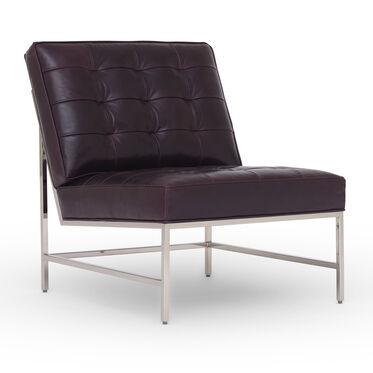 MAJOR LEATHER CHAIR, MONT BLANC - AUBERGINE, hi-res
