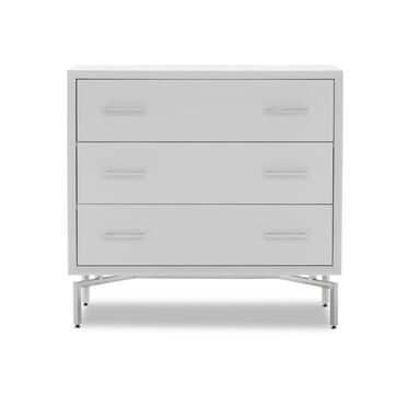 MING 3 DRAWER CHEST - WHITE, , hi-res