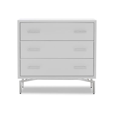MING 3 DRAWER CHEST - WHITE / PSS, , hi-res