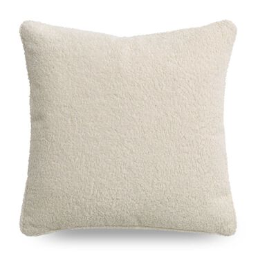 "SHERPA 21"" X 21"" ACCENT PILLOW, SHERPA - NATURAL, hi-res"