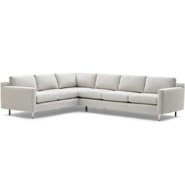 HUNTER STUDIO RIGHT NO WELT SECTIONAL SOFA, PIPPIN - SILVER, hi-res