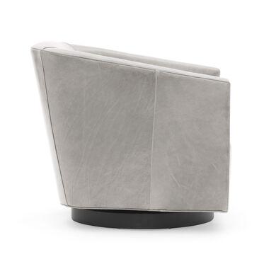 Cooper Studio Leather Swivel Chair, MONT BLANC - MIST, hi-res