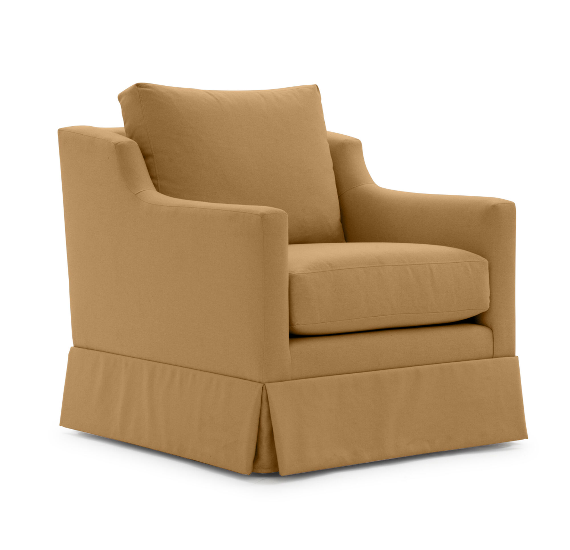 Gigi Skirted Return Swivel Chair