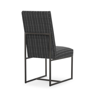 GAGE TALL DINING CHAIR - PEWTER, DOT DASH - GRAPHITE, hi-res
