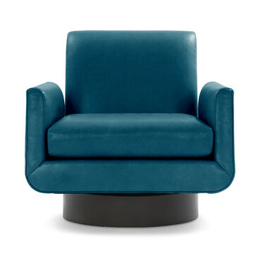 SUPERNOVA LEATHER RETURN SWIVEL CHAIR, MONT BLANC - MOUNTAIN SPRING, hi-res