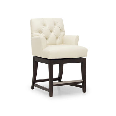 JACQUES LEATHER SWIVEL COUNTER STOOL, TRIBECA - CREAM, hi-res