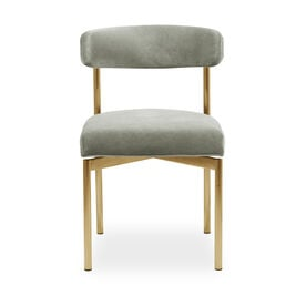 REMY DINING CHAIR - BRUSHED BRASS, Performance Velvet - PATINA, hi-res