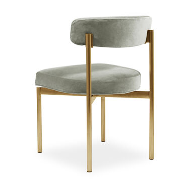 REMY DINING CHAIR - BRUSHED BRASS, BOULEVARD- PATINA, hi-res
