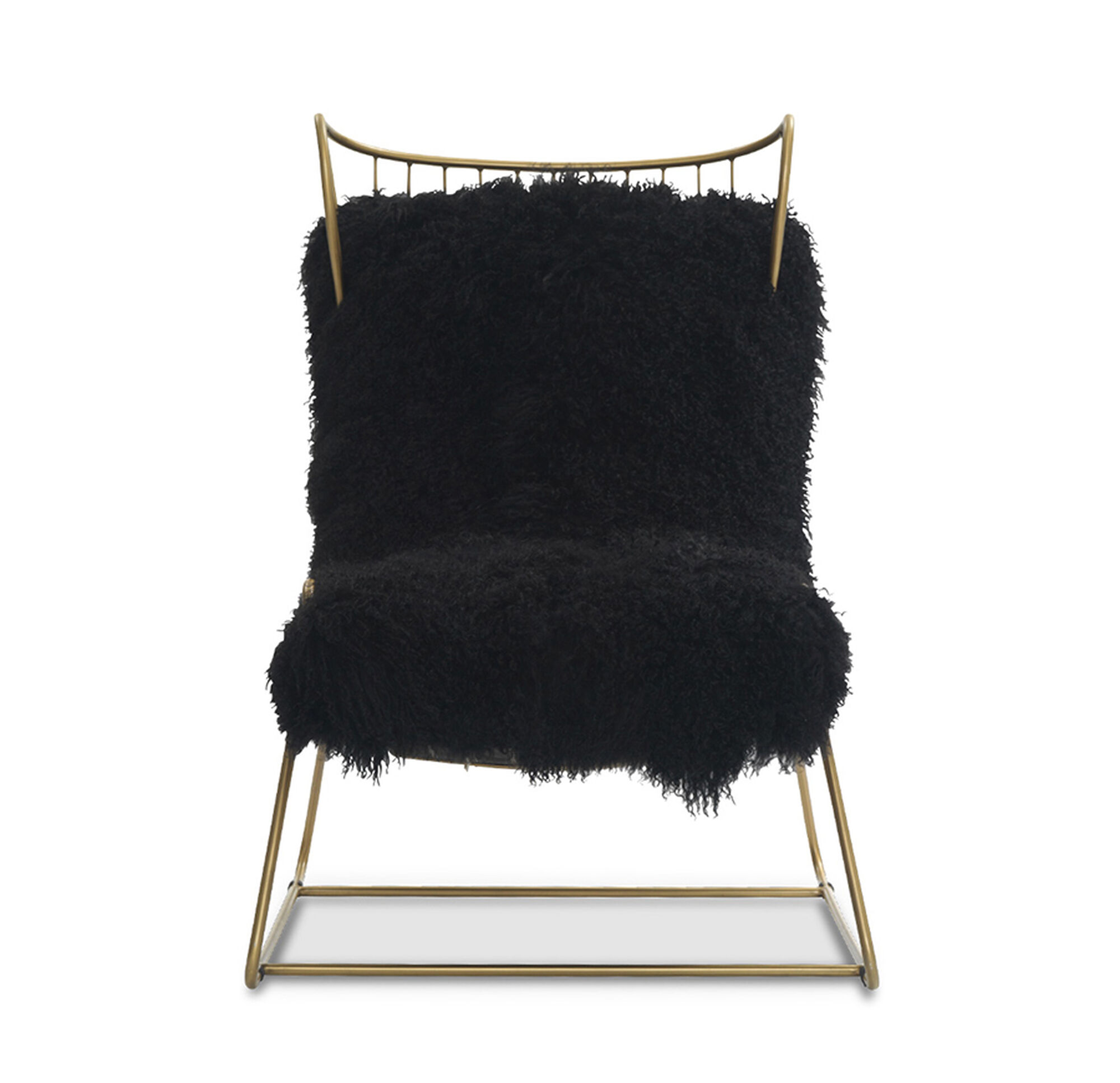 ENZO CHAIR BLACK WITH BRASS