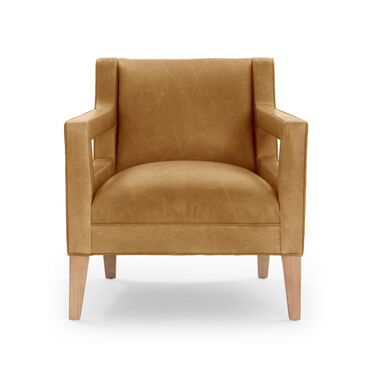 DUKE LEATHER CHAIR, MONT BLANC - FAWN, hi-res