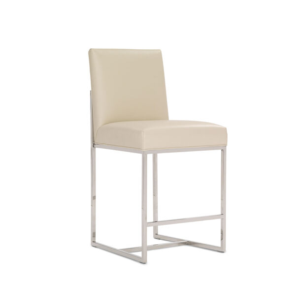 GAGE LEATHER COUNTER STOOL, TRIBECA - CREAM, hi-res