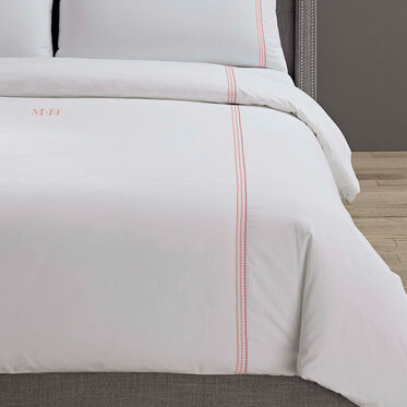 PEARL STITCH QUEEN DUVET COVER - MONOGRAM, , hi-res