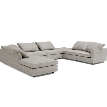 BIG EASY 8-PC SECTIONAL, COSTA - SILVER, hi-res