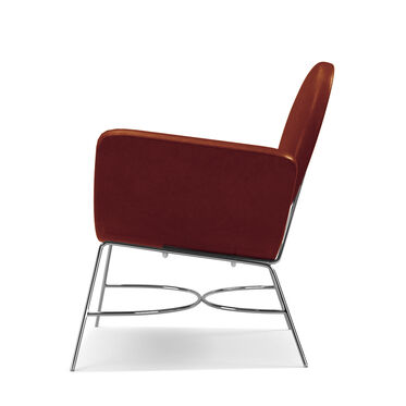 ELROY LEATHER RIGHT ARM CHAIR, MONT BLANC - CHIANTI, hi-res