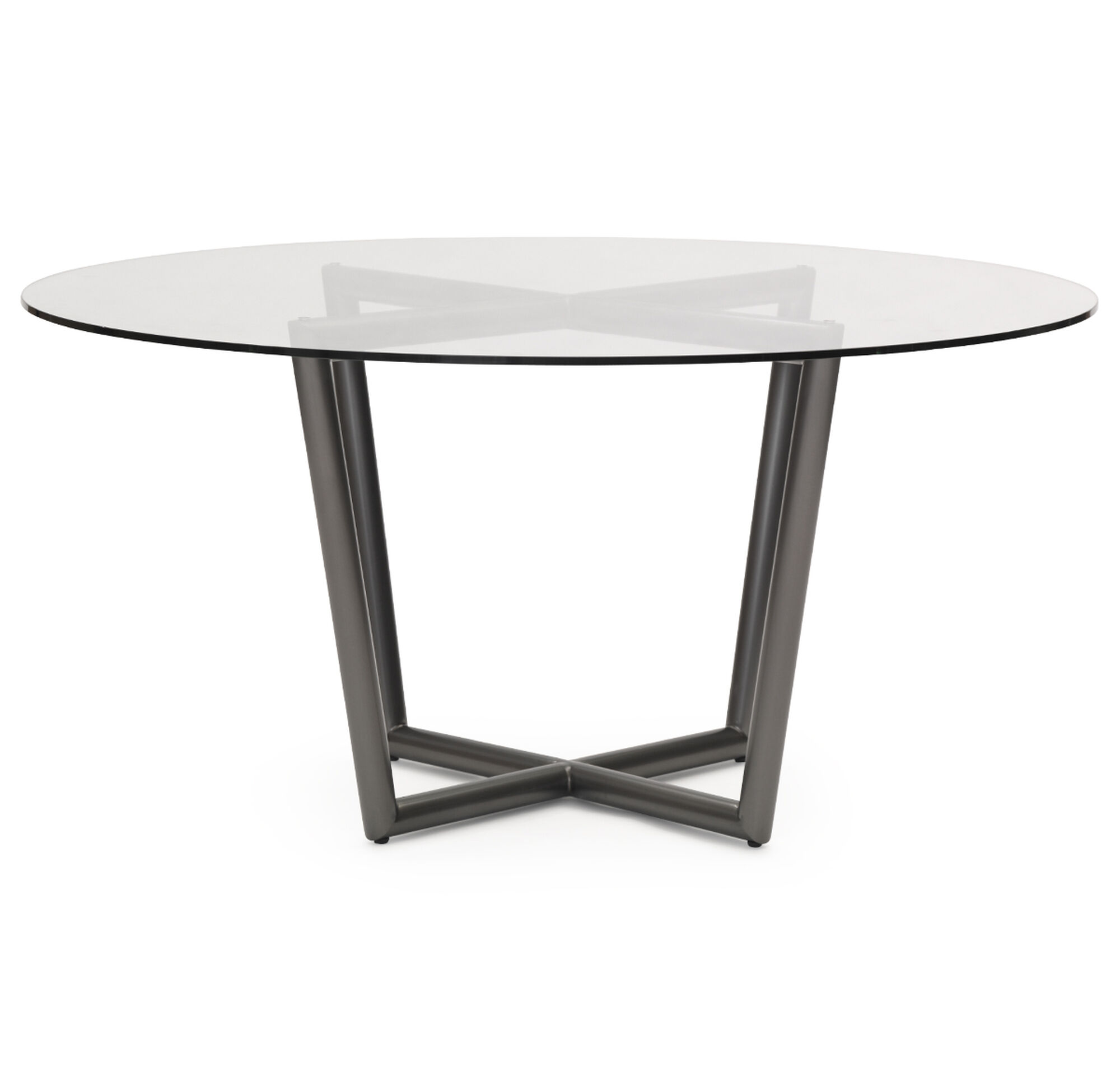 MODERN ROUND DINING TABLE PEWTER - All modern round dining table