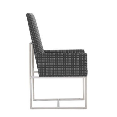 GAGE TALL ARM DINING CHAIR, DOT DASH - GRAPHITE, hi-res
