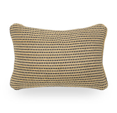 22 X 15 IN. THROW PILLOW, RILEY - JUTE/AGEAN, hi-res