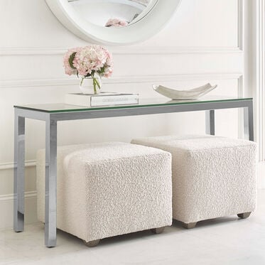 CLASSIC PARSONS CONSOLE TABLE - POLISHED STAINLESS STEEL, , hi-res