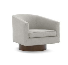 BIANCA SWIVEL CHAIR, Performance Lustrous Basket Weave - PEWTER, hi-res