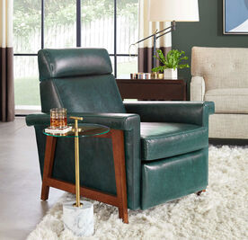 ARLEN ELECTRIC LEATHER RECLINER, MONT BLANC - MOUNTAIN SPRING, hi-res